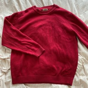 Vintage L. L. Bean red knit crewneck sweater